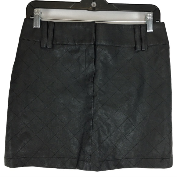 4/$30 Forever 21 Quilted Faux Leather Mini Skirt